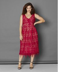 Simply Be - Lace Fit And Flare Dress - Lyst