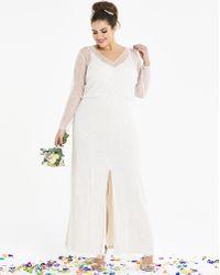 00c51e7069 La Perla Bridal High Low Maxi Dress In Sequin in White - Lyst