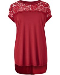 Simply Be - Lace Panel Top - Lyst