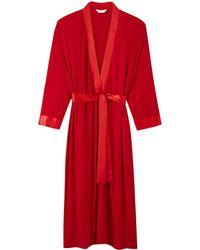 Simply Be - Pretty Secrets Satin Trim Gown - Lyst