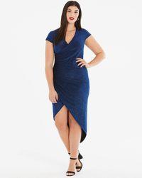 AX Paris - Curve Asymettric Glitter Dress - Lyst