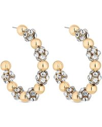 Lipsy - Oversized Pave Ball Earrings - Lyst