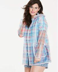 Simply Be - Printed Transparent Rain Jacket - Lyst