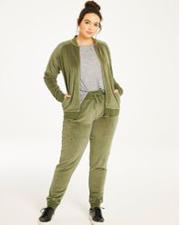 Simply Be - Velour Cuffed Sweatpants - Lyst