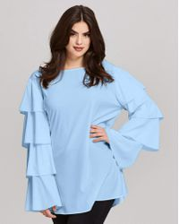 AX Paris - Layered Sleeve Blouse - Lyst