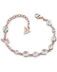 Guess - Crystal Bracelet - Rose-tone - Lyst