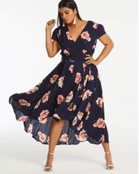 AX Paris - Curve Floral Dip Back Dress - Lyst