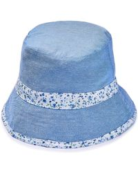b6ead0e613edd Lyst - Fred Perry Authentic Navy Reversible Fisherman Bucket Hat in Blue