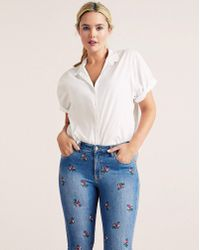 Violeta by Mango - Embroidered Jeans - Lyst