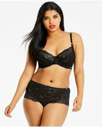 419d0a9d49416 Simply Be - Joanna Hope 2 Tone Lace Under Wired Non Padded Full Cup Bra -