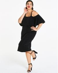 Lyst - Charlotte Russe Plus Size Floral Cold Shoulder Bustier Dress ...