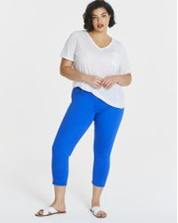 Simply Be - Amber Crop Jeggings - Lyst