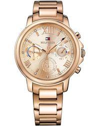 086d8623ad Tommy Hilfiger Ladies Rose Gold 2 Hand Bracelet Watch in Metallic - Lyst