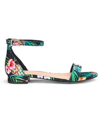 144475cfadc Simply Be Daphne Flatform Sandals Extra Wide Fit in Pink - Lyst