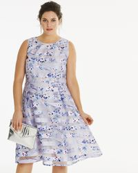 8c4a06d0a7d2e5 Lyst - Ted Baker Burn Out Floral Dress in Blue