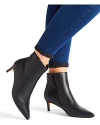 e11c7f5459c Simply Be Lillibet Cone Heel Boots Wide Fit in Black - Lyst