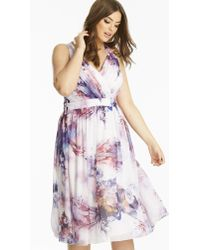 Simply Be - Little Mistress Printed Prom Dress - Lyst
