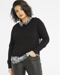 Simply Be - Oasis Buttercup Woven Shirt Tails Knit - Lyst