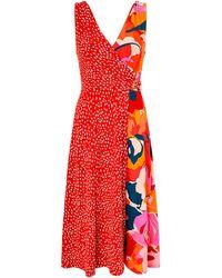 17dd3d55d2 Monsoon - Saige Jersey Print Midi Dress - Lyst