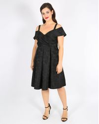 496a22bd5fc Lyst - Simply Be Lovedrobe Burnout Velvet Prom Dress With Chantilly ...