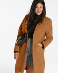 Simply Be - Single Breasted Coat - Lyst