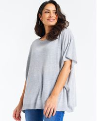 Simply Be - Touch Of Wool Poncho - Lyst