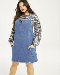 a2733aa3d39 Lyst - J Brand Reeve Distressed Denim Dress in Blue