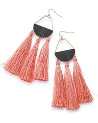 Simply Be - Fabric Fringe Earrings - Lyst