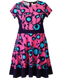 AX Paris - Pink Blue Skater Dress - Lyst