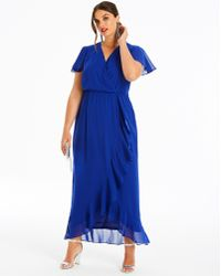 428e03f530 Simply Be - Lovedrobe Wrap Dress With Ruffle - Lyst