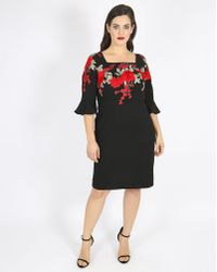 Simply Be - Lovedrobe Embroidered Square Neck Dress - Lyst