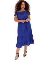 Oasis Lace Trim Bardot Midi Dress