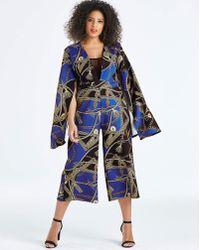 AX Paris - Curve Printed Jumpsuit - Lyst