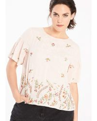Simply Be - Peach Embellished Shell Top - Lyst