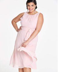 J SHOES - Joanna Hope Blush Chiffon Dress - Lyst