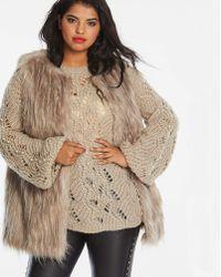 Simply Be - Mink Faux Fur Gilet - Lyst