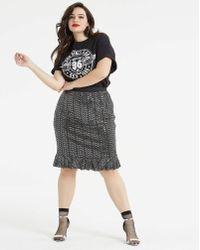 AX Paris - Sequin Fit & Flare Skirt - Lyst