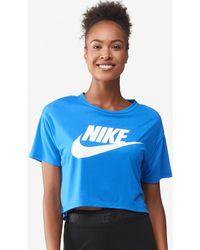 995f4badc2da Lyst - Nike Essential Crop T-shirt in Pink