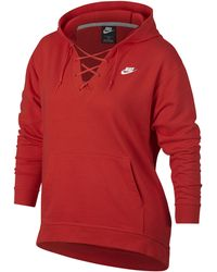 Nike - Rally Lace-up Hoodie Extended Size - Lyst