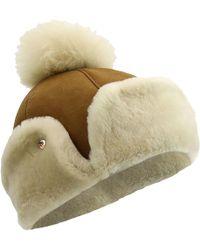 a94efd22dd3 UGG - Sheepskin Flap Hat - Lyst