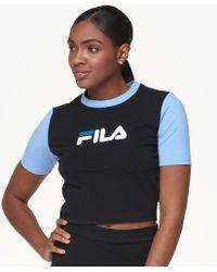 610ecc444c1d Lyst - Fila Anna Fitted Tee in Blue