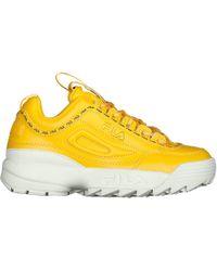 Fila - Yellow Taped Logo Disruptor 2 Premium Trainers - Lyst