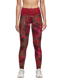 Lyst - adidas Believe This Hr Iteration Tights in Red 25a5dcbb69c