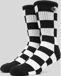 Obey - Checkers Socks - Lyst