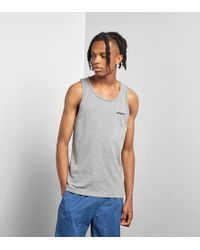a512f2c3ea7820 Lyst - Patagonia  fore Runner  Slim Fit Sleeveless T-shirt in Red ...