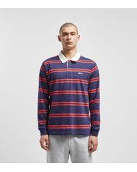 Stussy - Desmond Stripe Rugby Shirt - Lyst