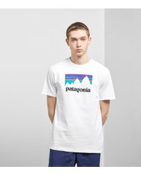 Patagonia - Shop Sticker T-shirt - Lyst