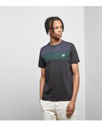 Fred Perry - Colourblock Panel T-shirt - Lyst