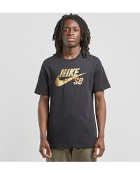 7d752b60863a Nike X Off White Logo Print Cropped Cotton T Shirt in Black for Men ...