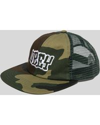 Obey - Runnin Trucker Cap - Lyst